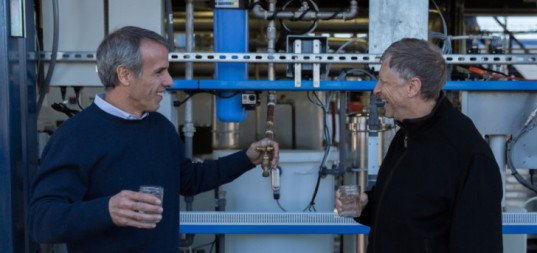 Watch Bill Gates drink water made from sewer sludge!