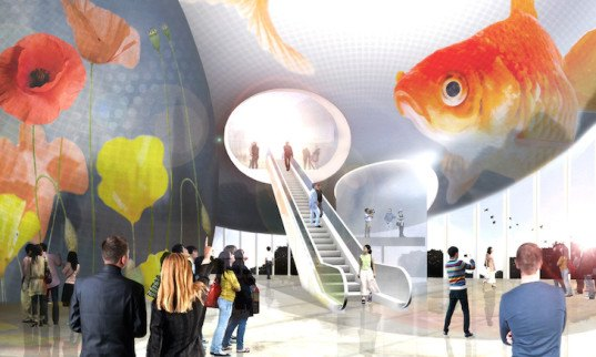 Jens Holm, HAO, Holm Architecture Office, Bolong 3D Movie Museum & Mediatek, Mediatek, 3D Movie Museum, Tianjin, China, Chinese architecture, experience zone, exhibition space, cloud-inspired architecture, 3D media, public plaza