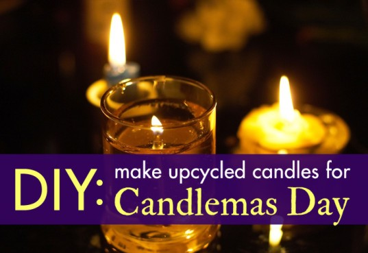 DIY: Make recycled candles for Candlemas Day