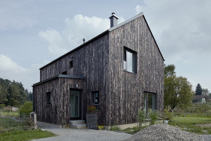 Carbon House S Burnt Wood Facade Is A Playful Reference To