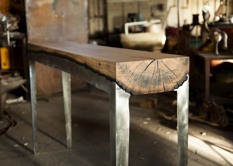 Cast Aluminum And Tree Trunk Furniture By Hilla Sharnia Studio « Inhabitat  U2013 Green Design, Innovation, Architecture, Green Building