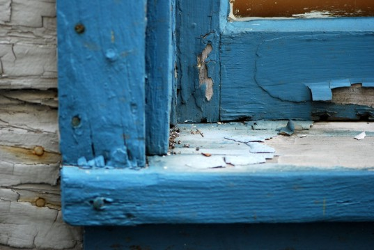 chipping paint, blue, window, lead, lead poisoning, nails, neurotoxin, toxin