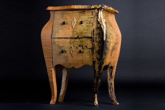 Emilie Mazeau-Langlais, classical furniture, cardboard furniture, cardboard sofa, recycled furniture, recycled materials, cardboard, French designers, France