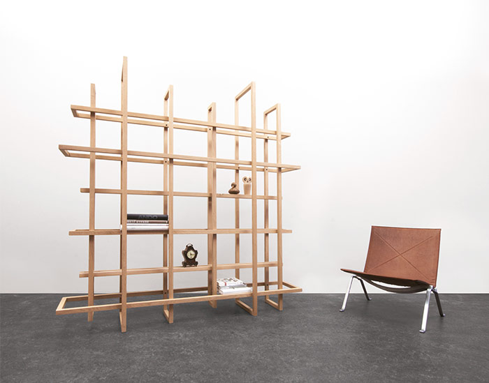 Dutch designer Gerard de Hoop recently unveiled his latest iteration of  Grid, a freestanding geometric bookcase that consists of 12 wooden frames  of varying ...