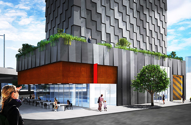 Hwkn unveils verdant 100 000 sq ft yotel hotel in for Design hotel williamsburg