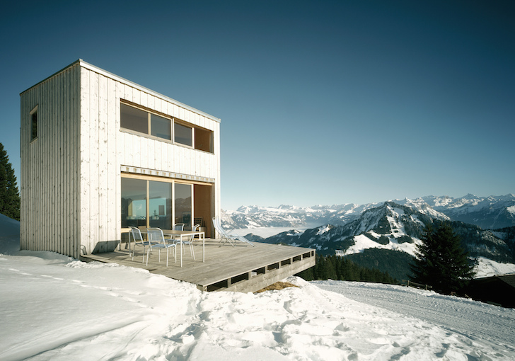 Timber Holiday Home Frames Breathtaking Views Of The Swiss Alps