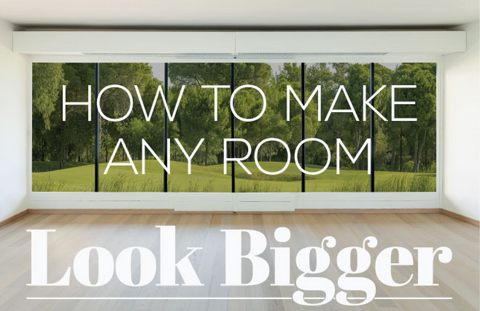 INFOGRAPHIC How To Make A Small Space Look Bigger Room Inhabitat