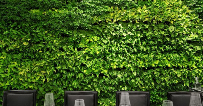 Hunt and fish club living wall inhabitat green design for Hunt and fish club nyc