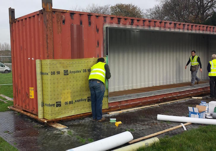 Home Container ireland's first shipping container home was built in just three