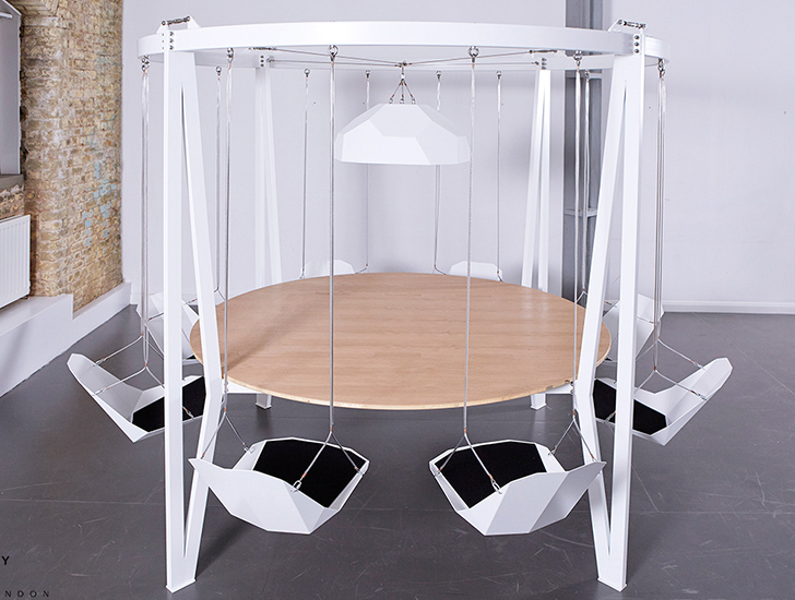 Captivating Duffy London Is Encouraging People To U201cbring The Playground Into The  Boardroom Or Dining Roomu201d With Their Brilliant New King Arthur Swing Table.