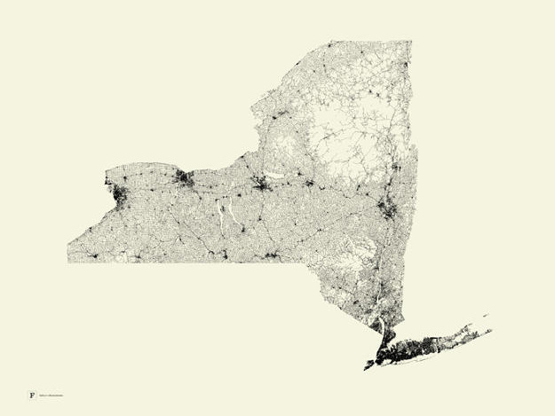 Shocking Maps Show How Much Pavement Covers The United States - Grand canyon pa map