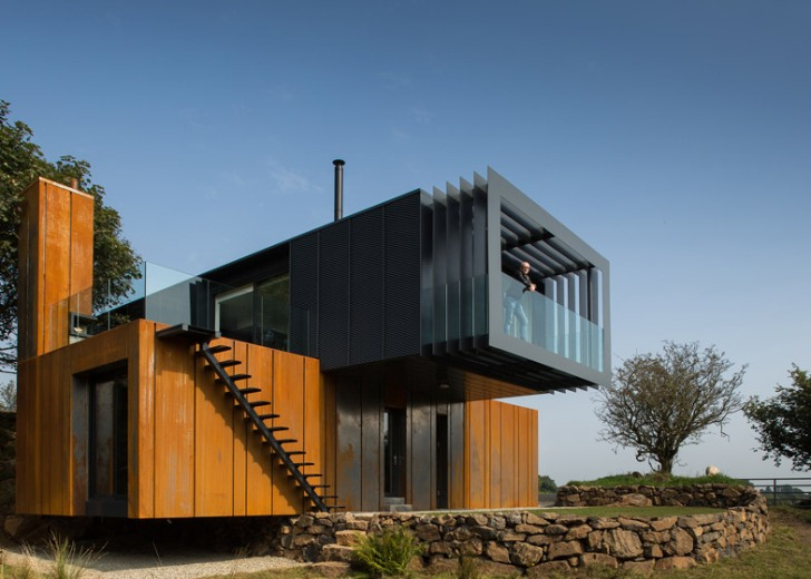 Architect tops his sophisticated Irish farmhouse with repurposed shipping  containers | Inhabitat - Green Design, Innovation, Architecture, Green  Building