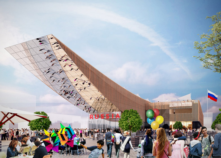 Russian Pavilion at Milan Expo features a huge canopy made of sustainably sourced timber & Wooden Canopy | Inhabitat - Green Design Innovation Architecture ...