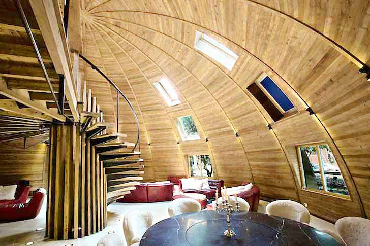Self Supporting Dome Homes Can Be Lit With The Energy