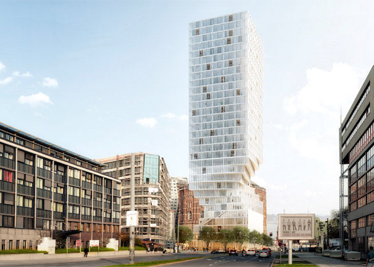 Mvrdv Proposes Twisted Hourglass Like Skyscraper In