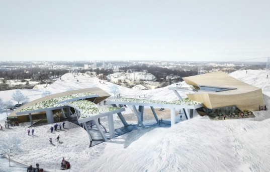 Daniel Libeskind, Lithuania, Liepkalnis Ski Hill, Beacon, Baltic region, Vilnius, ski attraction, ski destination, Lithuanian landscape, Vilnius Beacon, multipurpose destination, canopy