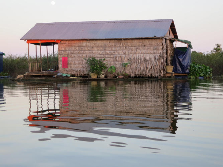 Cambodian Floating Toilets Filter Human Waste Naturally