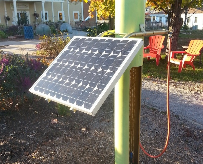 Mum students build a solar powered bicycle repair station for Salvaged building materials los angeles