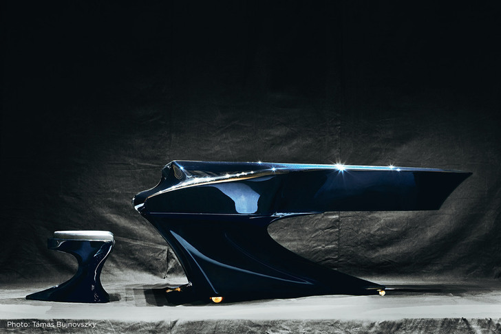 Hungarian Pianist Gives The Grand Piano A Sleek Modern Makeover