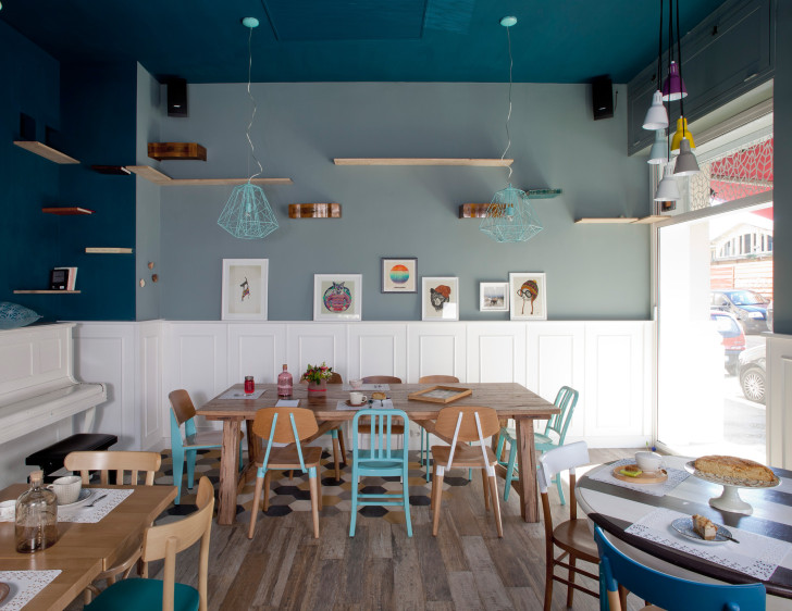 Whimsical Interior Design tommaso guerra designs the romeow cat bistrot's whimsical cat