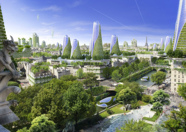 futuristic paris smart city is filled with flourishing green skyscrapers inhabitat green. Black Bedroom Furniture Sets. Home Design Ideas