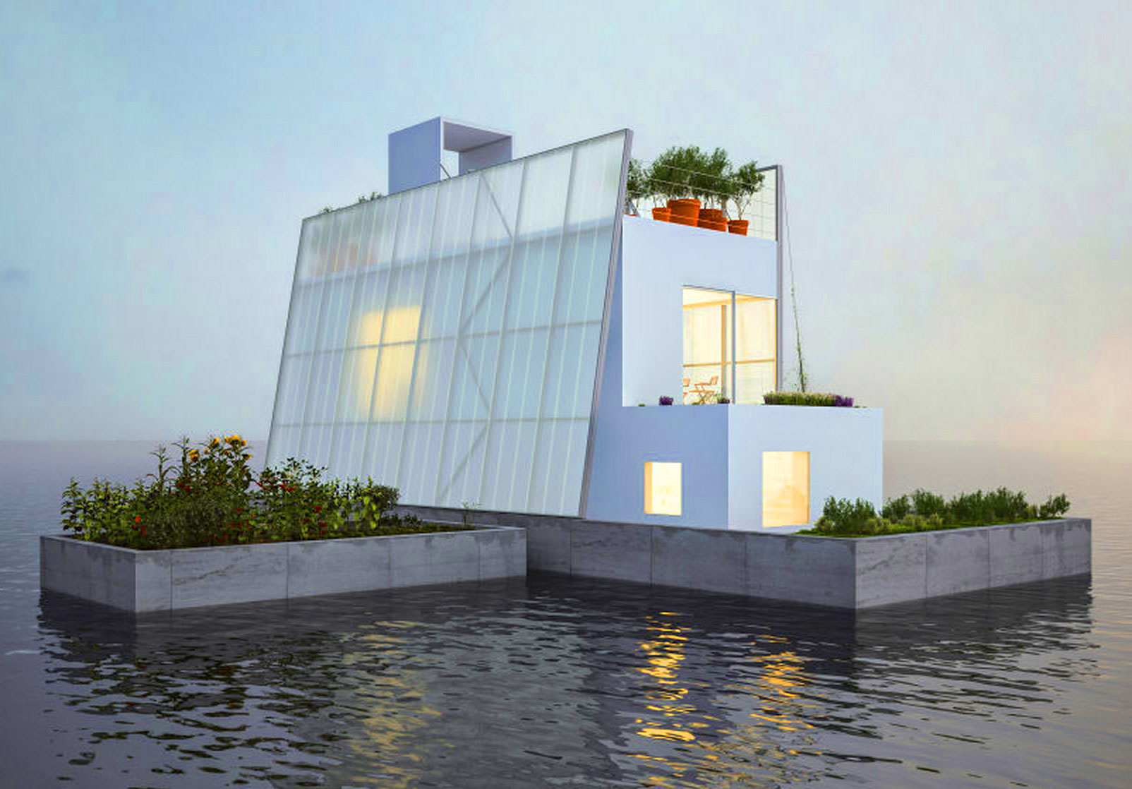 Great Carl Turner Architects, Floating House, Self Sufficient Homes, Houses In  Flood Zones