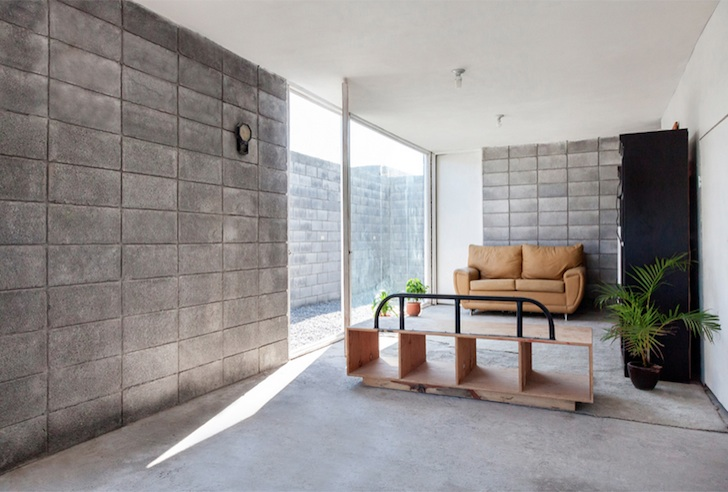 The casa caja box house by s ar is a model for low cost concrete housing inhabitat green - Casa in canapa costo ...