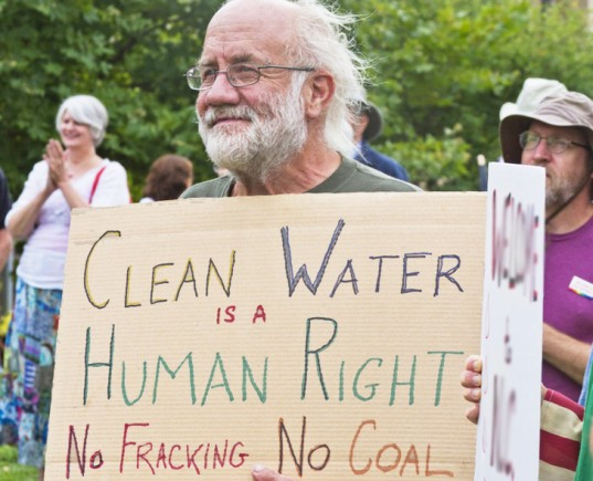 Clean Water Human Right Sign