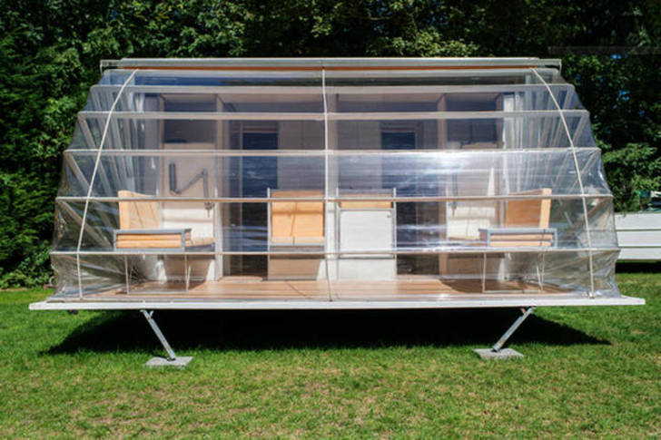 Incredible De Markies Trailer Folds Out To Triple Its Size With