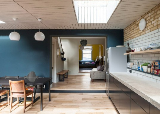 Gort Scott Architects, Victorian House, London, extension, green renovation, 19th century house, daylit house, timber facade, timber cladding, timber ceiling