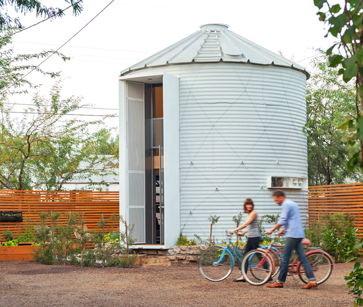 Mid-century grain silo transformed into a gorgeous, affordable home for two