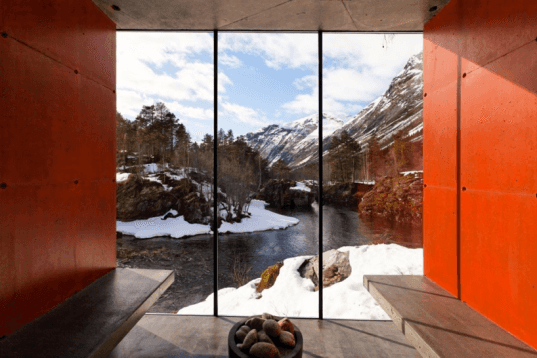 sauna, sauna design, green design, sustainable design, sustainable sauna, green architecture, sustainable architecture, sauna architecture, Jensen & Skodvin, Norway, Juvet Landscape Hotel