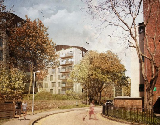 Jestico + Whiles, Caledonian Road, residential development, Jestico + Whiles, Standerwick Land Design, Telford Homes, landscaping, green architecture