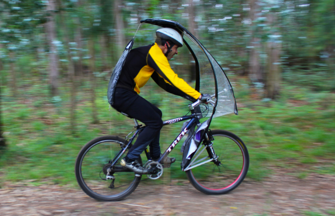 leafxpro is the world s first umbrella for your bike inhabitat