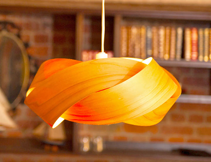 Minnow Twist lamp shade is made from Macrocarpa and laser-cut bamboo ...