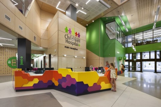 salutogenic, Lady Cilento Children's Hospital, children's hospital, Brisbane, Australia, Conrad Gargett, Lyons, hospital, green roof, hospital architecture, LCCH, living tree, atriums, Bougainvillea, pediatric hospital design