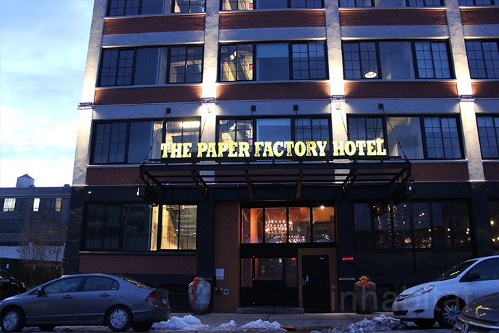 Paper Factory Hotel Front Queens Inhabitat Green Design Innovation Architecture Building