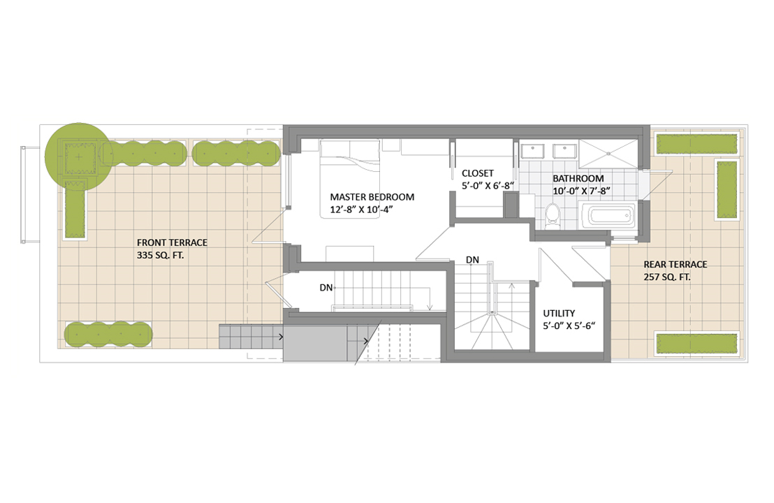 Prospect heights passive house 3rd floor living room for Passive house design plans