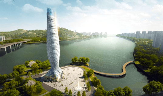 RMJM, Zhuhai Observation Tower, RMJM Zhuhai Observation Tower, Zhuhai China, Zhuhai Fish Tower, fish tower
