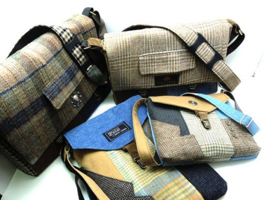 green design, eco design, sustainable design , Sew Much Style, upcycled men's suits, recycled messenger bags, recycled fashion. Terry Lischka
