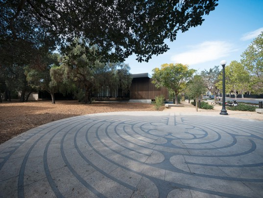 Stanford University's rammed earth Windover Contemplative Center provides a tranquil space for students