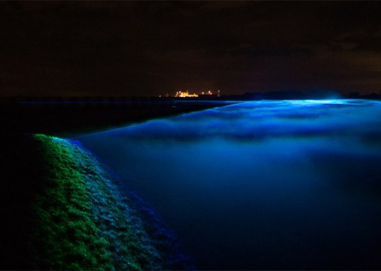 Daan Roosegaarde, light installation, art installation, Waterlicht, aurora borealis, northern lights, LED lights, Dutch artists, the Netherlands