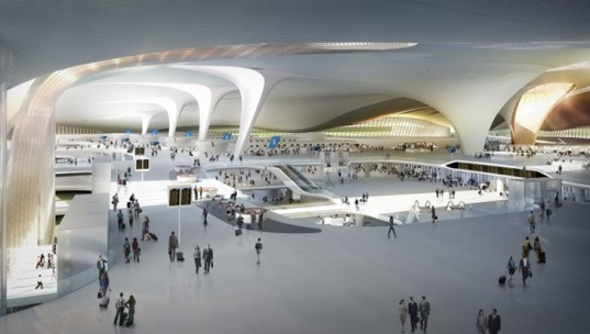 zaha hadid, zaha, zha, adpi, bejing, airport, worlds largest airport, sustainable design