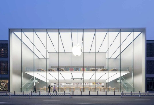 apple store in china, foster + partners, foster and partners, china apple store design, chinese new year, retail stores in china