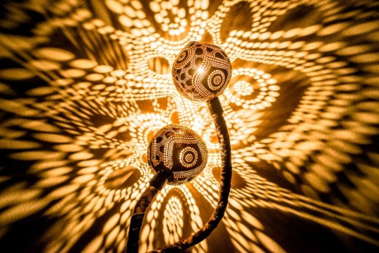 Nymph's Workshop makes unique, handcrafted lamps out of coconut shells