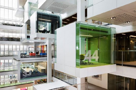 eco-friendly office, Except, Macquarie Bank, Clive Wilkinson Architects (CWA), Cuningham Group, LEED Gold office, Culver City, Google office, Camenzind Evolution, Selgas Cano