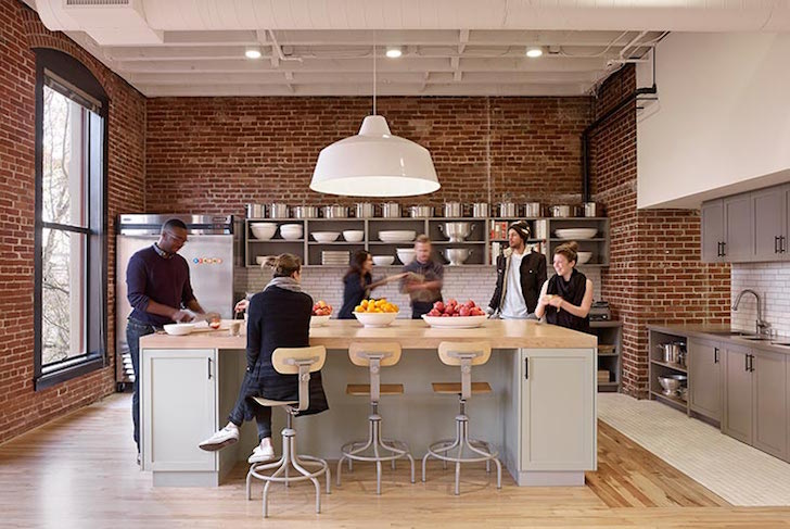 Airbnb s portland call center offers a beautiful and for Kitchen library portland