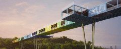 Yoav Messer Architects, Tel-Aviv, container bridge, recycled containers, Econtainer Bridge, Ariel Sharon National Park, israel, Architecture, Recycled Materials, Green Resources, Green Transportation,