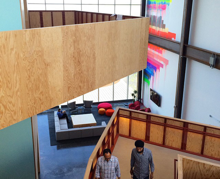 Facebook s new frank gehry designed leed certified headquarters boasts a beautiful artistic interior for Certified interior decorators international
