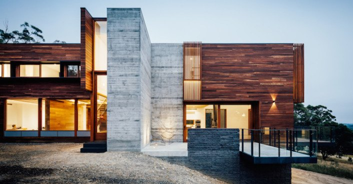 Contemporary invermay house handsomely pairs spotted gum with concrete inhabitat green - Maison moderne ken linsteadt architecte ...